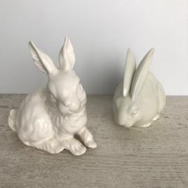 Setje konijnen van keramiek