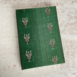 Notebook vintage sari groen