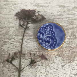 Broche Mella porselein Delft Blue