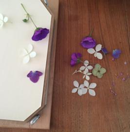Vierkante bloemenpers S