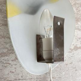 Vintage 60s lamp van glas