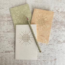 Notebook zon mandala groen