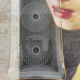 Vintage glazen schaal Prisma