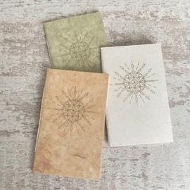 Notebook zon mandala goudgeel