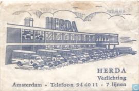 Seventies bureaulamp van Herda