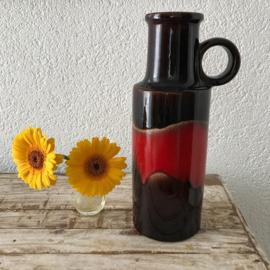 Seventies West Germany vaas 'rood/bruin'