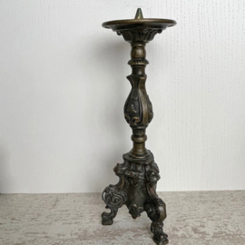 Antiek koperen kandelaar 'dark'