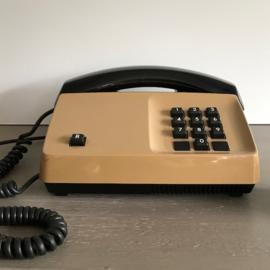 Vintage telefoon bruin/zwart