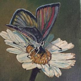 Olieverf schilderij Vlinder