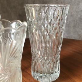 Vintage glazen vazenset 'wave'
