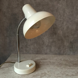 Vintage industriële lamp wit chroom