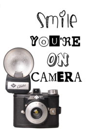 A4 Poster 'Smile You're On Camera'