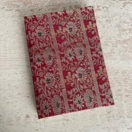 Notebook vintage sari roze goud bloemen