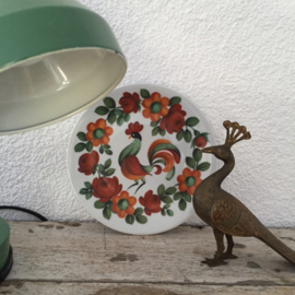 Wandbordje Happy Rooster