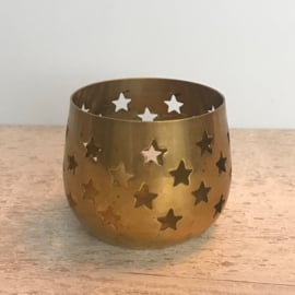 Koperen waxinelichthouder ster