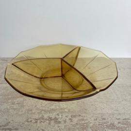 Vintage schaal persglas Art Deco