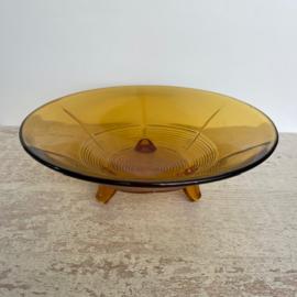 Vintage fruitschaal persglas Art Deco
