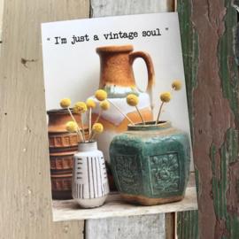 Ansichtkaart 'I'm just a vintage soul'