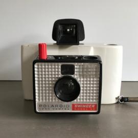 Vintage Polaroidcamera 'Swinger' (wit)