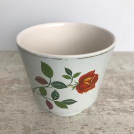 Vintage bloempotje roos