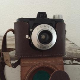 Vintage camera AGFA Clack (met hoes)