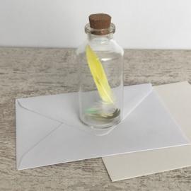 Flessenpost medium geel/groen