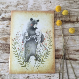 Snow & Rose notebook Bear