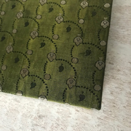 Notebook vintage sari olijfgroen