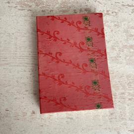 Notebook vintage sari lichtroze