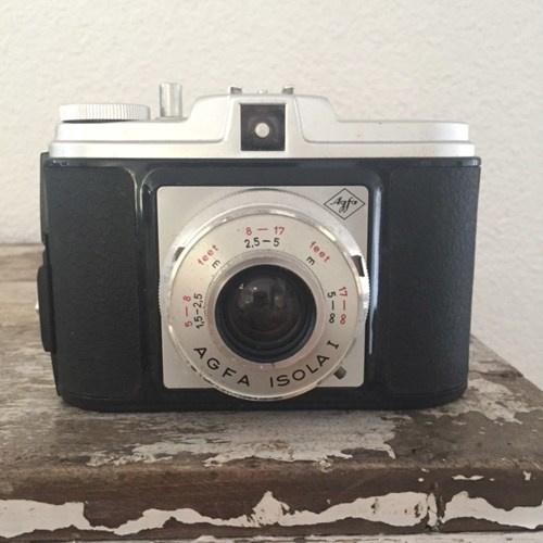 Vintage camera AGFA Isola (met hoes)