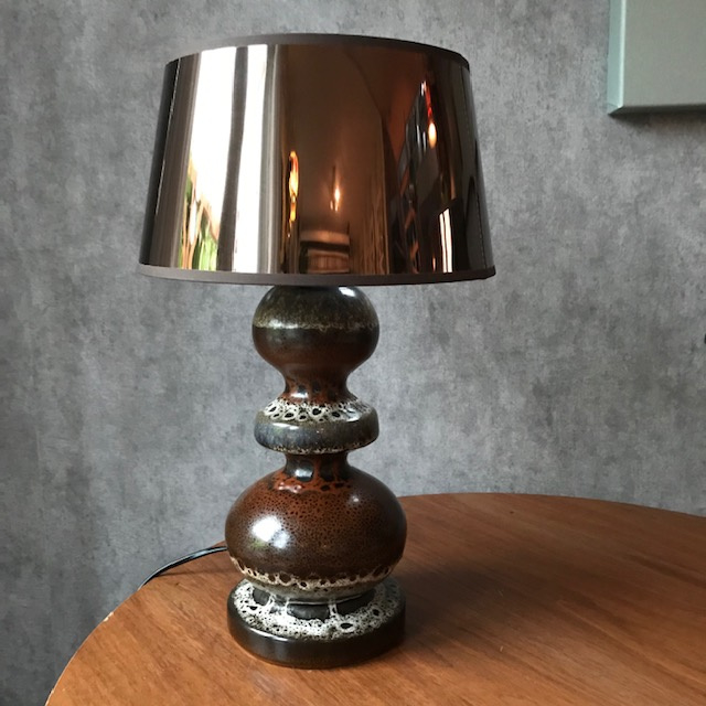 70s West Germany lamp keramiek groot