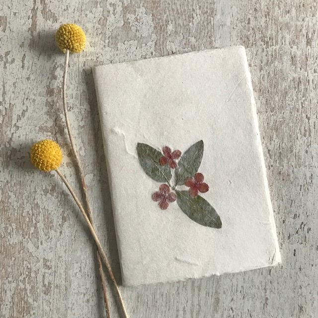 Notebook droogbloemen 2