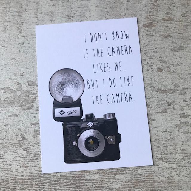 Kaart 'I do like the camera'