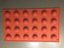 Siliconen bakvorm halve rondjes