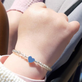 Baby Armbandje Zilver Hart