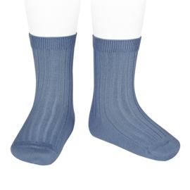 Cóndor Socks Rib Azul-blauw (449)