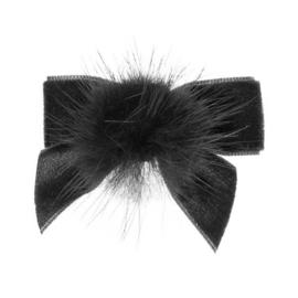 Siena Haarclip Velvet Pompom 6380 Zwart (900)