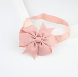 Haarband Vlinderstrik Oud roze