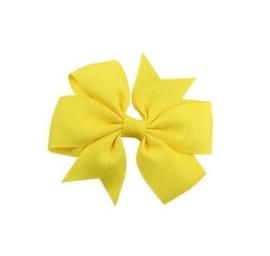 Haarclips Vlinderstrik Geel 8cm (2st)