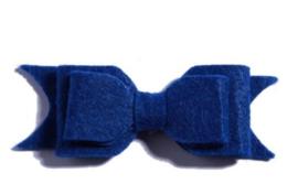 Haarclips Vilten Strik Cobalt (2st)