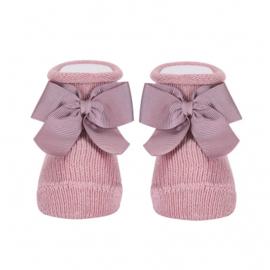Cóndor Socks Ribbon Strik 2595/4 Pale Pink (526)