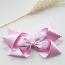 Haarclips Reuze Knoopstrik Satijn 15cm Pale Pink (526)