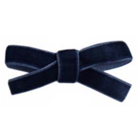 Haarclips Mini Strikjes Velvet Navy (2st)