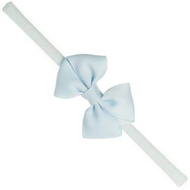 Siena Haarband Smal Ribbon Strik 7151 Licht Blauw (410)