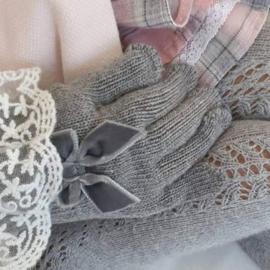 Cóndor Handschoentjes Velvet Strik 50.667.011 Grijs (230)