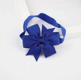 Haarband Vlinderstrik Cobalt