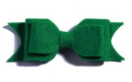 Haarclips Vilten Strik Groen (2st)