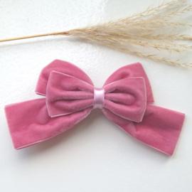 Haarclip XL Velvet Pale Pink (526)