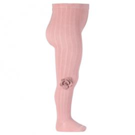 Cóndor Maillot Rib met Bloem 2466/1 Pale Pink (526)