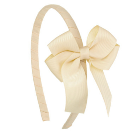Siena Diadeem Ribbon Strik 6779 Cream/Beige (303)